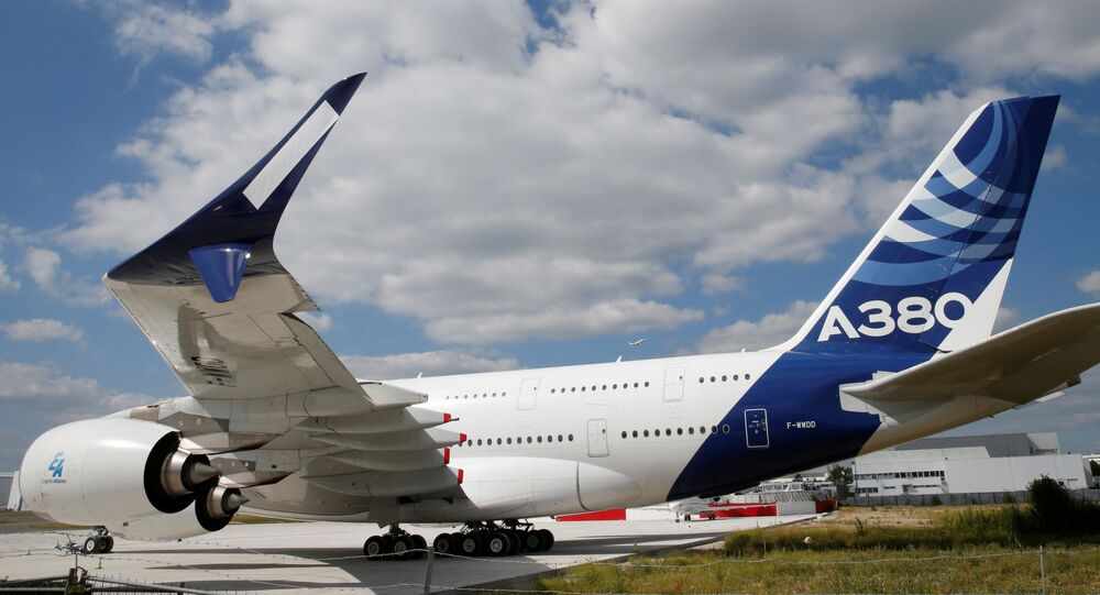 Aereo passeggeri Airbus А380 in Francia