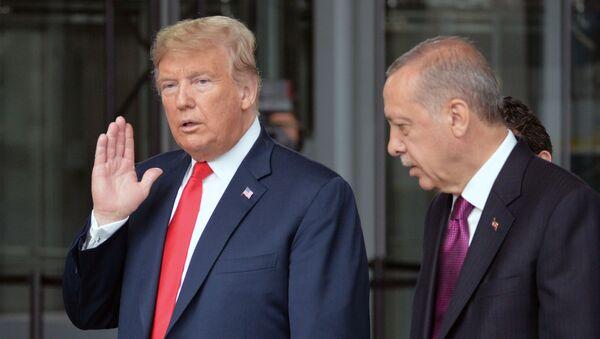 Il presidente USA Donald Trump e il presidente turco Recep Ergogan - Sputnik Italia