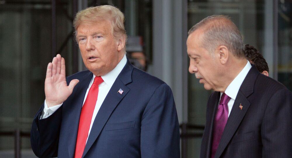 Il presidente USA Donald Trump e il presidente turco Recep Ergogan