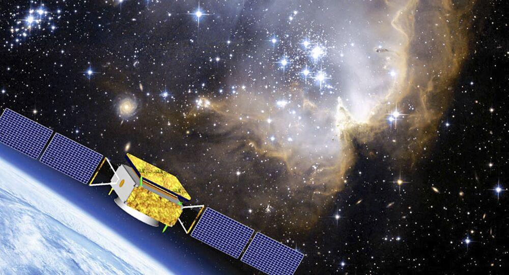 Illustrazione del satellite cinese DAMPE per esaminare la materia oscura