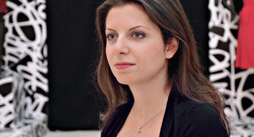 La caporedattrice di Sputnik e RT Margarita Simonyan