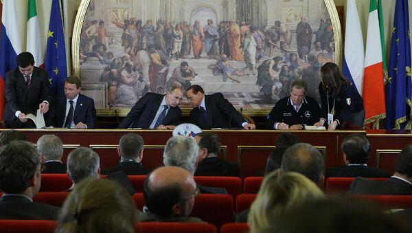 Visita ufficiale di Vladimir Putin in Italia - Sputnik Italia