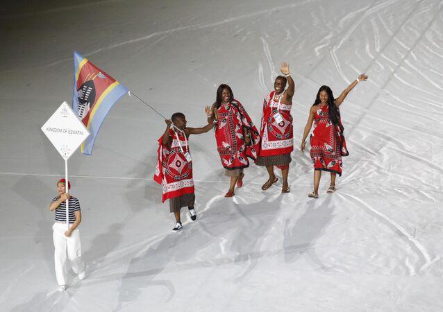 La nazionale del Regno di Eswatini alle Universiadi di Napoli 2019