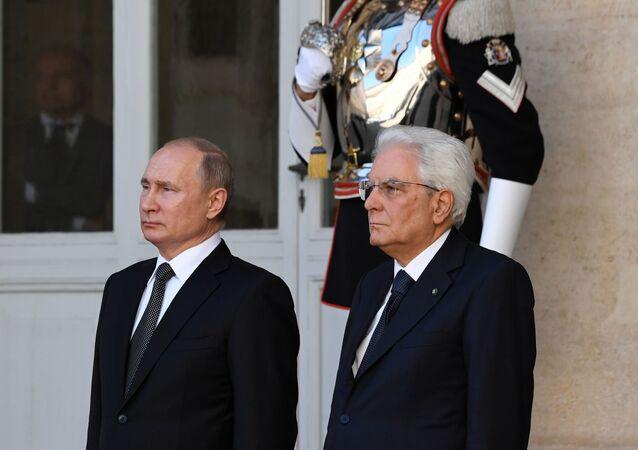 Roma, 4 luglio 2019: incontro fra il presidente russo Putin ed il presidente della Repubblica Mattarella al Quirinale
