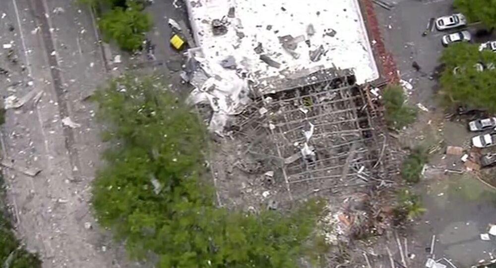 Le conseguenze dell'esplosione di gas a Planton, Florida