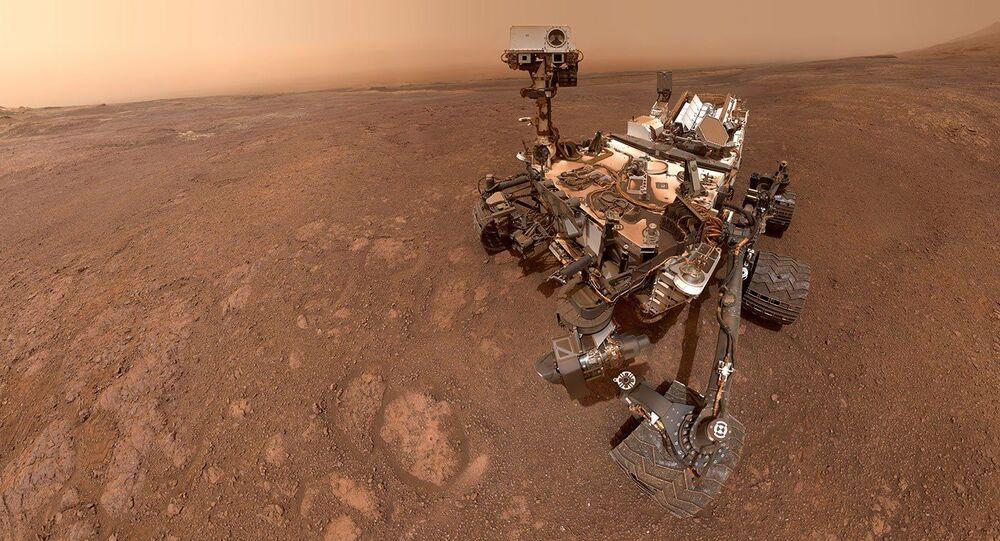 Selfie del rover Curiosity su Marte