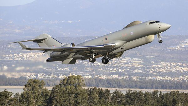 L'aereo da spionaggio SIGINT Bombardier Global Express Sentinel R.1 del Regno Unito  - Sputnik Italia