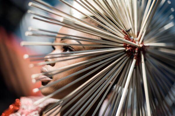Al fashion show alla corsa di cavalli di Vodacom Durban July a Durban, Sudafrica. - Sputnik Italia
