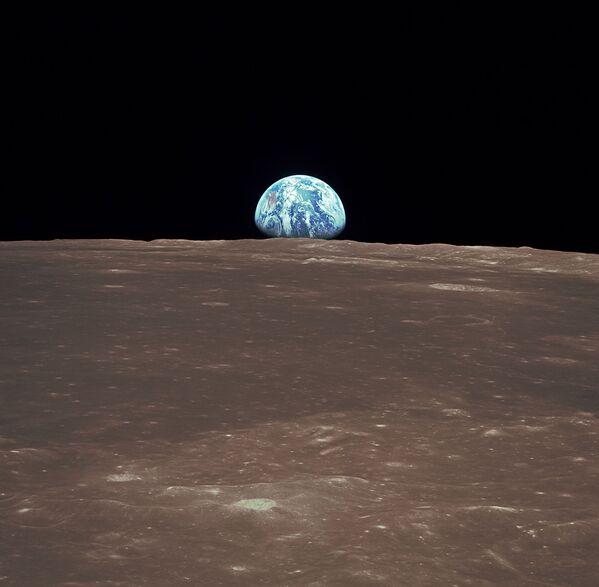 La Terra all'orizzonte vista dalla Luna - Sputnik Italia