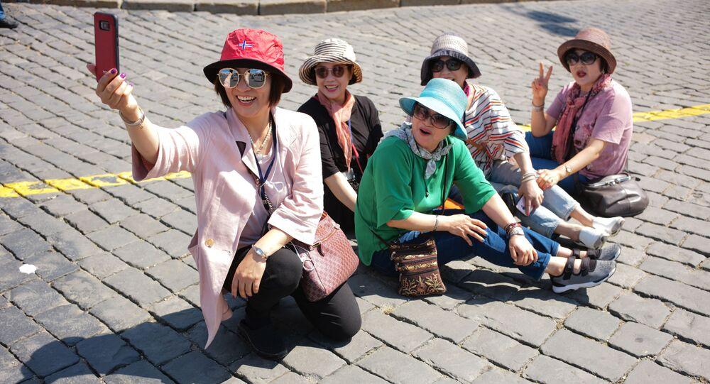 Turiste coreane a Mosca