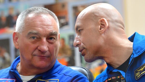 Luca Parmitano e Alexandr Skvortsov - Sputnik Italia
