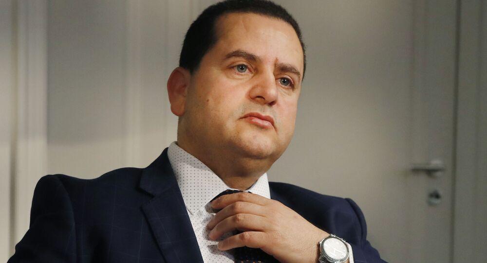 Abdulhadi Ibrahim Lahweej, ministro degli Esteri e della Cooperazione internazionale del Governo provvisorio libico