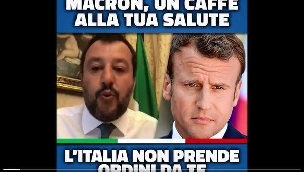 Polemica social - Salvini Macron - Sputnik Italia