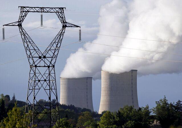 Una centrale elettrica nucleare