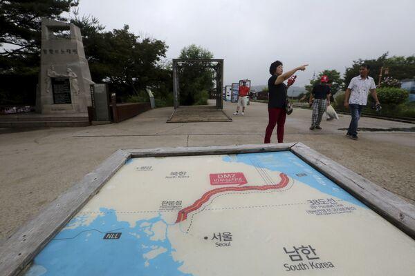 La mappa delle due Coree con le loro capitali, Pyongyang e Seoul. - Sputnik Italia