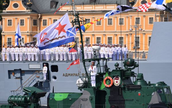 La parata militare navale a San Pietroburgo - Sputnik Italia
