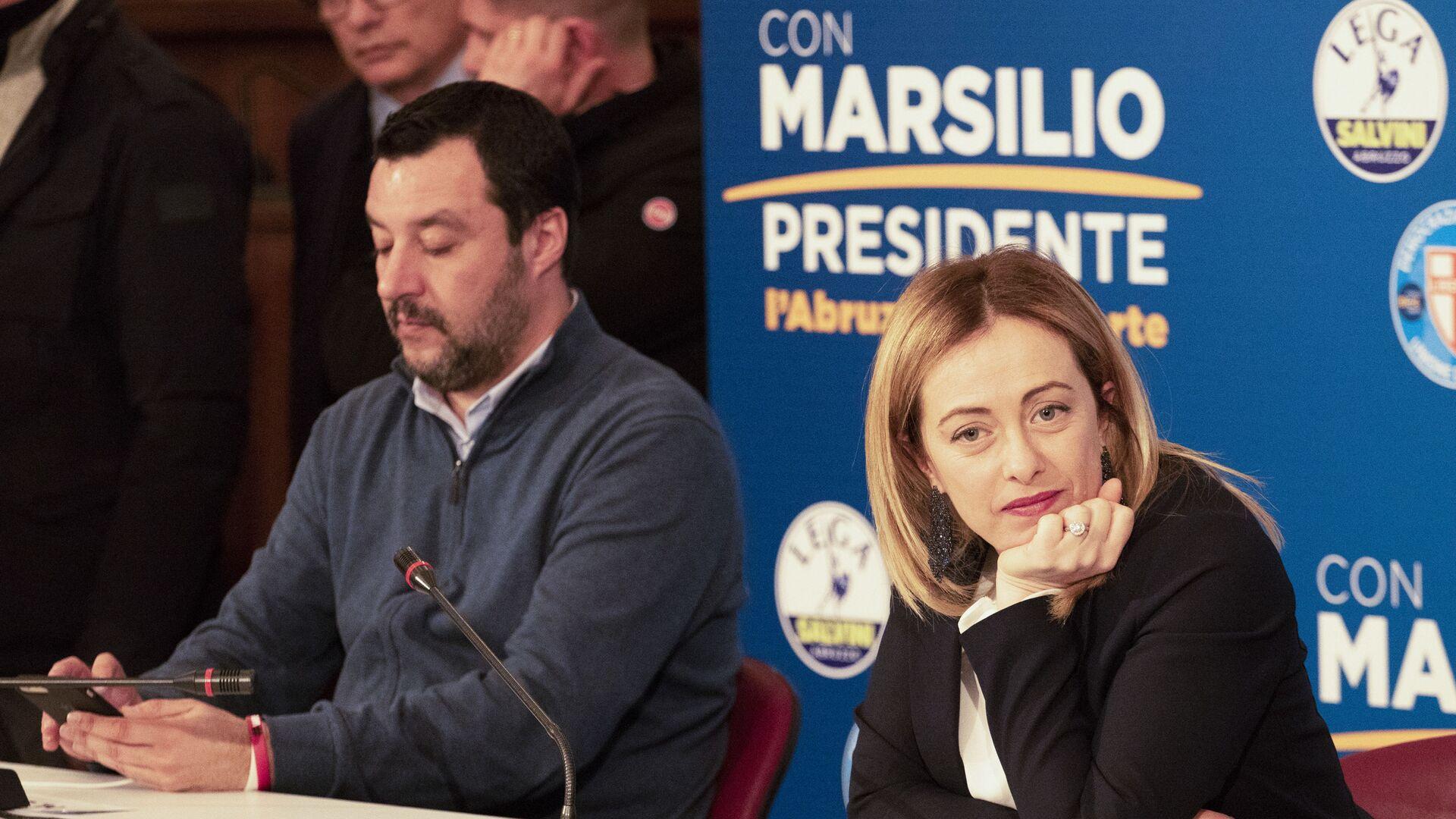 Matteo Salvini e Giorgia Meloni - Sputnik Italia, 1920, 06.06.2021