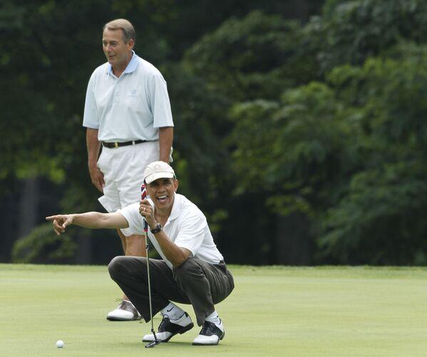 Barack Obama e il presidente della Camera dei Rappresentanti dell'epoca John Boehner. - Sputnik Italia