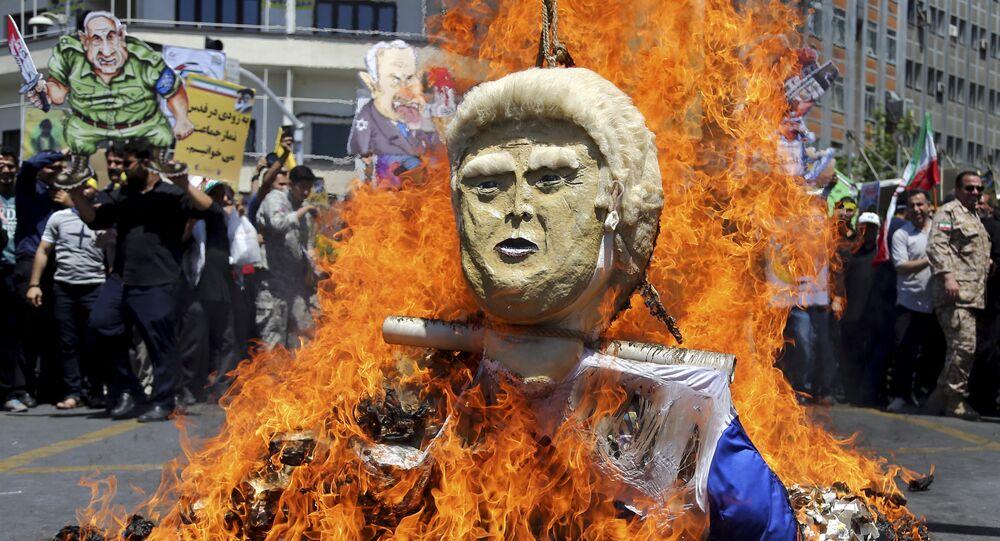 L'effigie di Donald Trump
