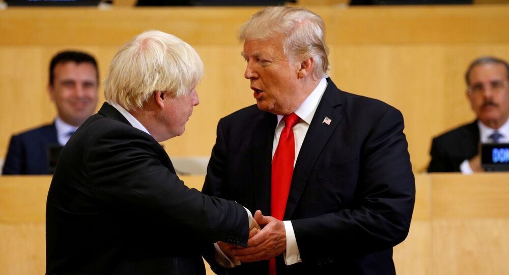 Boris Johnson e Donald Trump nel quartiere generale ONU a New York