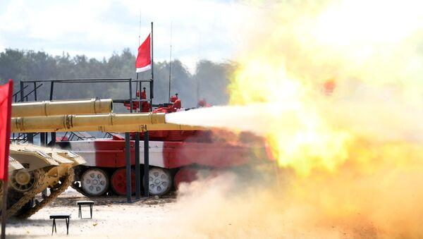 Un carro armato ZTZ-99 cinese nel poligono di Alabino, vicino a Mosca - Sputnik Italia