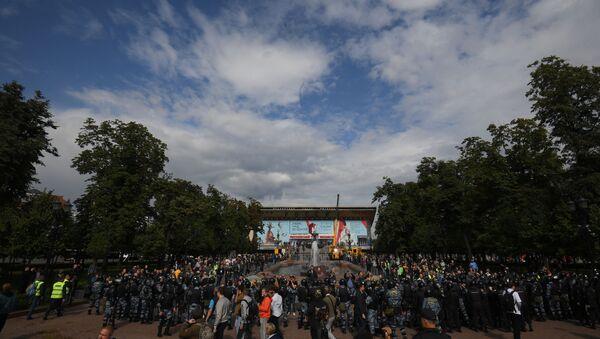 La manifestazione in piazza Pushkin a Mosca - Sputnik Italia