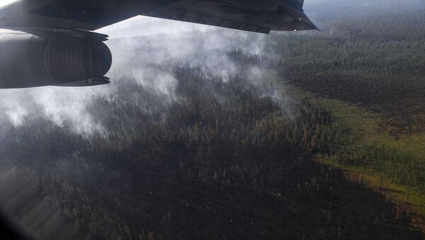 Un aereo durante lo spegnimento degli incendi in Siberia - Sputnik Italia