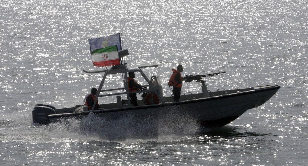 Il motoscafo del Corpo della Guardia Rivoluzionaria Iraniana