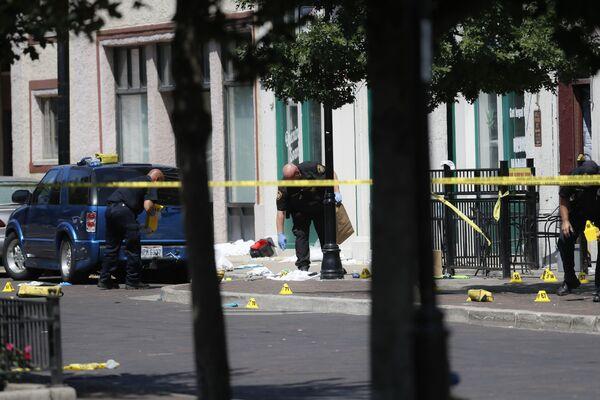 I poliziotti sulla scena della sparatoria a Dayton, Ohio. - Sputnik Italia