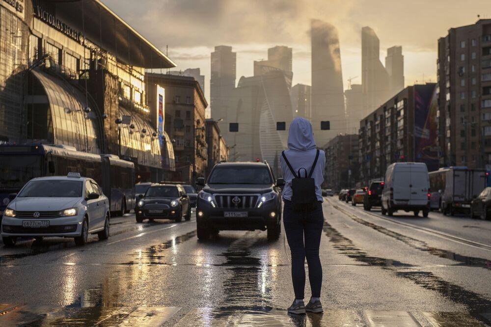 La vista sul Moscow-City, quartiere d'affari famoso della capitale russa.