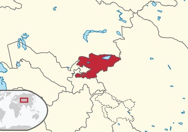 Kirghizistan, locazione schematica