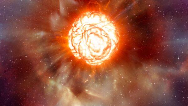 La stella supergigante rossa Betelgeuse nella costellazione di Orione - Sputnik Italia