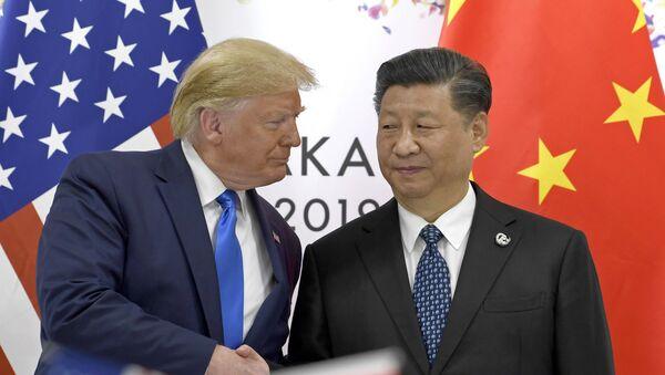 Il presidente Usa Donald Trump e il suo omologo cinese Xi Jinping - Sputnik Italia
