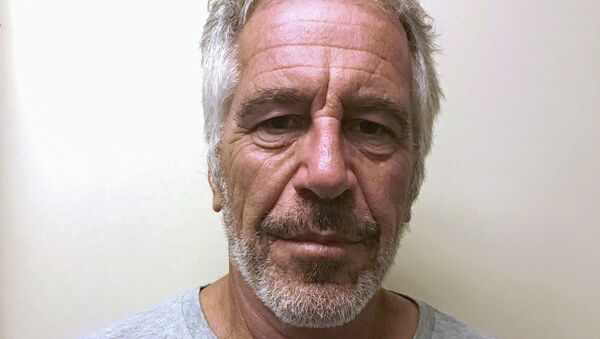 US financier Jeffrey Epstein appears in a photograph taken for the New York State Division of Criminal Justice Services' sex offender registry  - Sputnik Italia