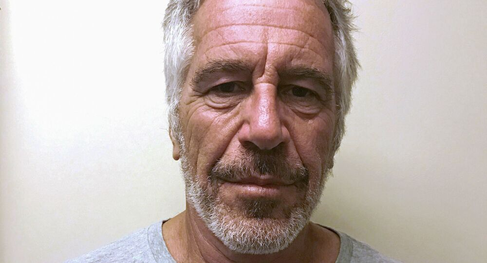 US financier Jeffrey Epstein appears in a photograph taken for the New York State Division of Criminal Justice Services' sex offender registry