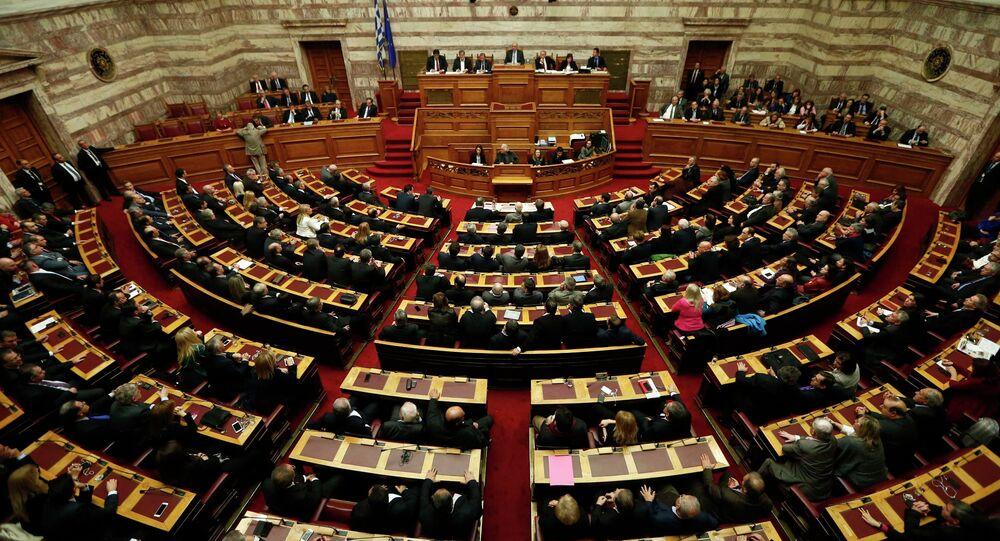 Il parlamento della Grecia