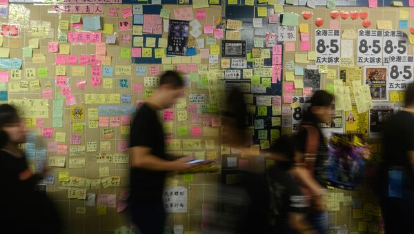 Il Lennon Wall a Tseung Kwan O (Hong Kong) - Sputnik Italia