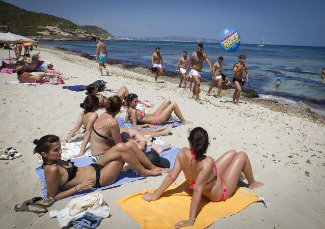 La spiaggia di Ibiza