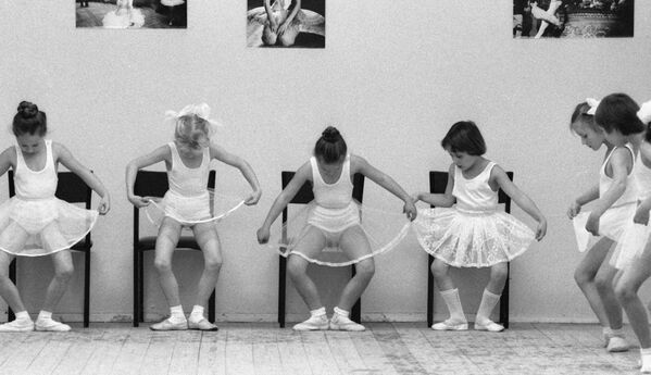 Lezioni di coreografia in un centro culturale Meridian a Mosca. 1985.  - Sputnik Italia