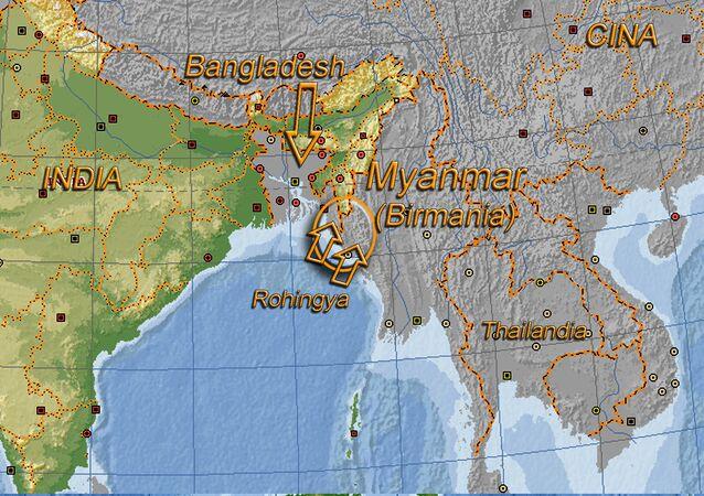 Crisi dei Rohingya - visualizzazione sulla mappa
