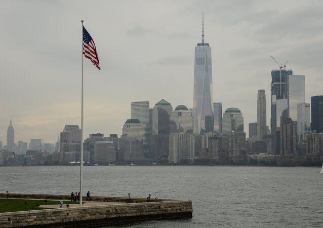 La vista di Manhattan, New York