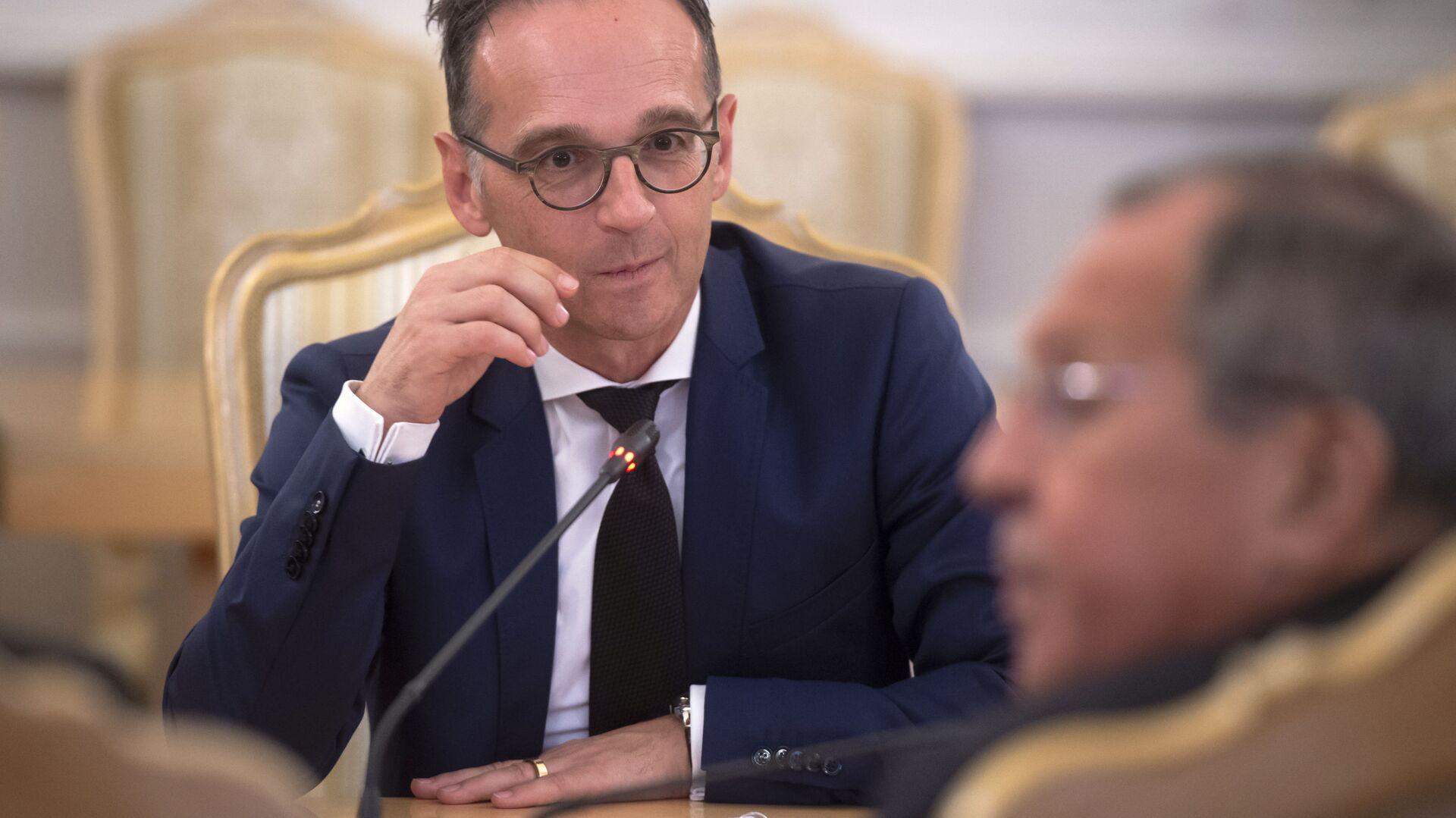 Bundesaußenminister Heiko Maas beim Treffen mit seinem Amtskollegen aus Russland Sergej Lawrow am 21. August 2019 - Sputnik Italia, 1920, 28.05.2021