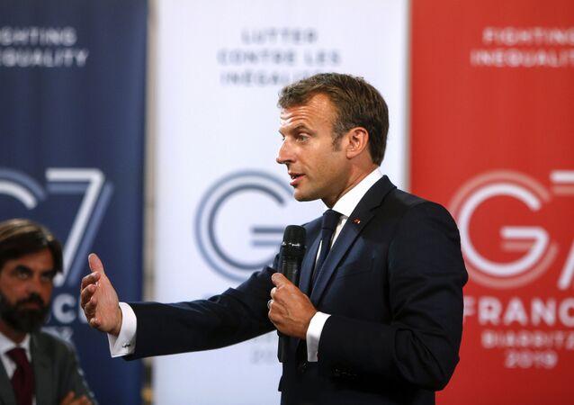 Emmanuel Macron a Biarritz
