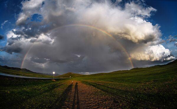 Arcobaleno in Mongolia. - Sputnik Italia