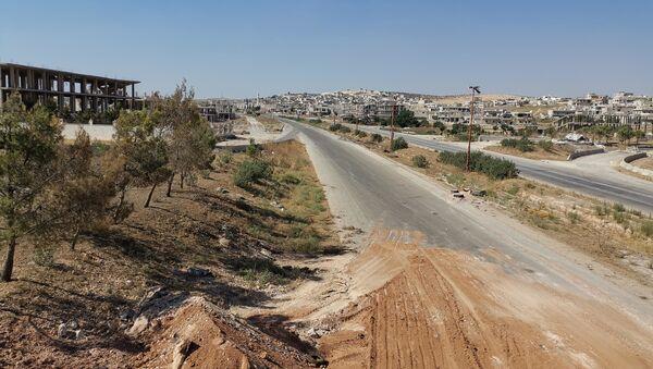 Nella città liberata di Khan Shaykhun, Siria, cominciano i lavori per ripristinare le infrastrutture - Sputnik Italia