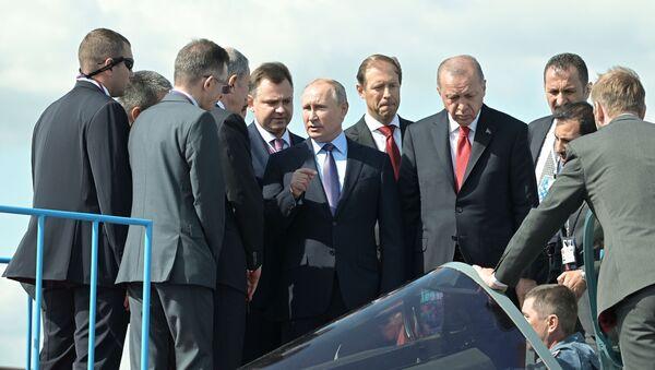 Putin e Erdogan al MAKS-2019 - Sputnik Italia