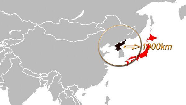 Raggio di 1000km intorno alla Corea del Nord - Sputnik Italia