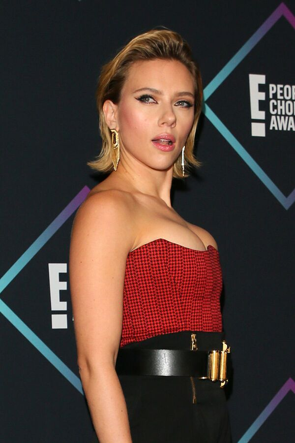 L'attrice Scarlet Johansson durante una sessione di foto al People's Choice Awards 2018  - Sputnik Italia