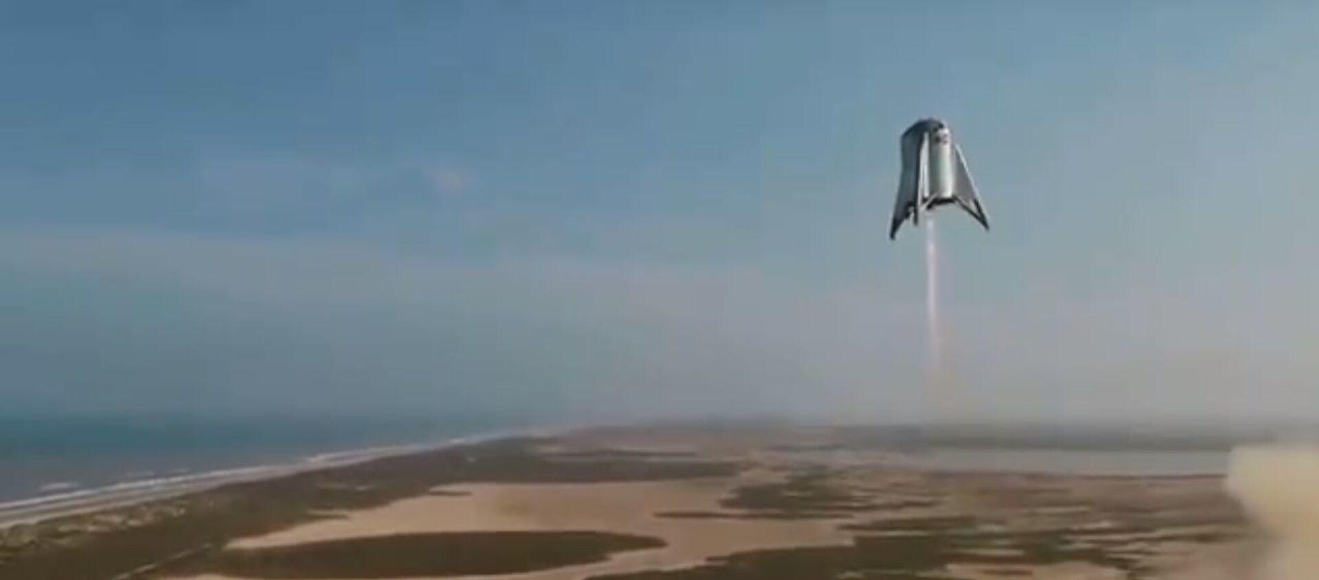 La navetta Starhopper di SpaceX a 150 metri da terra - Sputnik Italia, 1920, 02.02.2021