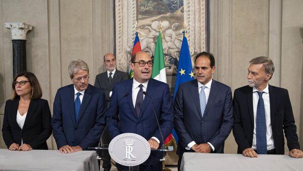 La delegazione dei gruppi parlamentari Partito Democratico, in occasione delle consultazioni - Sputnik Italia